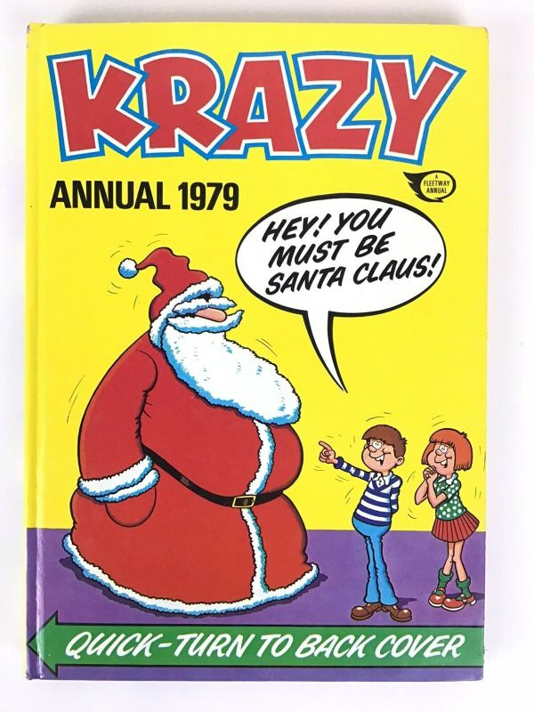 KRAZY Fleetway Annual Comic Book 1979 Unclipped Great Gift Idea IPC Magazines